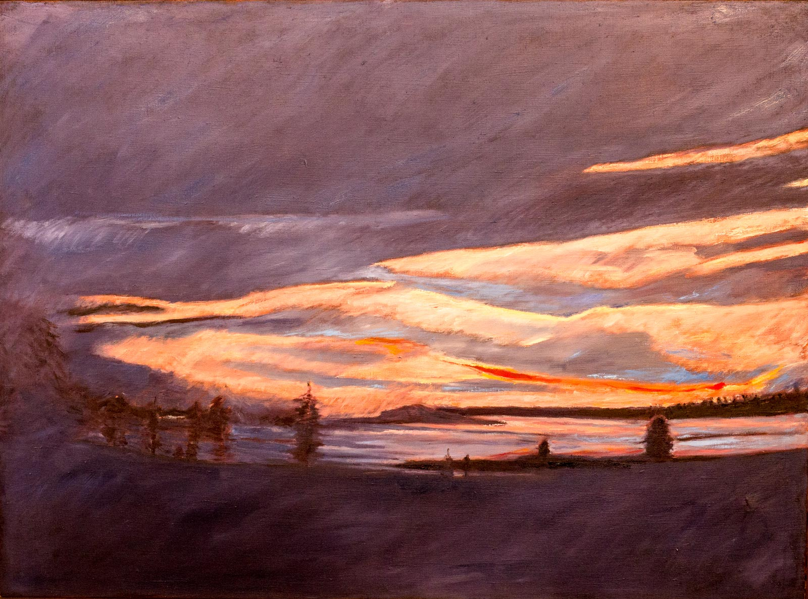 Cree Haven Sunset #2, 2011, 49x36