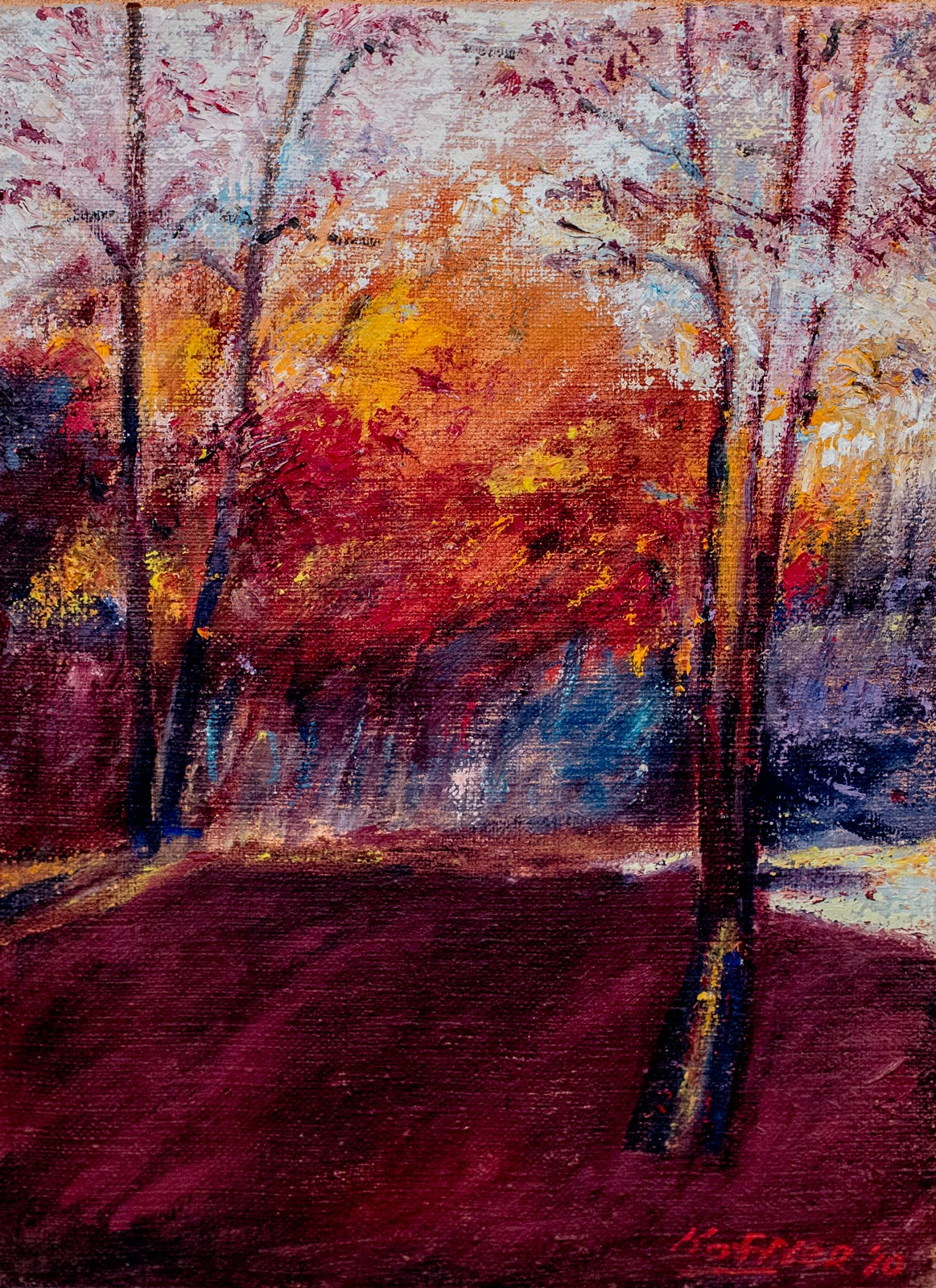 Robert-Steven-Koffler---Art-Catalog_Through_the_Autumn_trees_2010_12x9